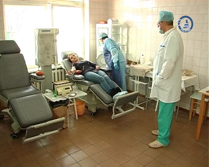 Медработники Полотчины приняли участие в акции по безвозмездной сдаче крови