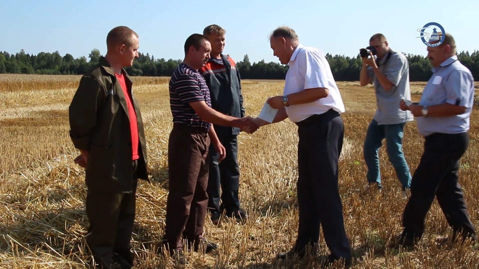 Первого комбайнёра-тысячника чествовали на сельхозпредприятии «Горяны-Агро»