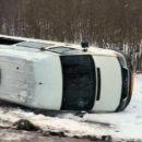 Под Новополоцком перевернулась маршрутка с 15 пассажирами. ОБНОВЛЕНО
