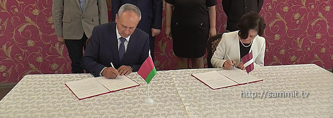 В Полоцке подписан протокол о намерениях в экологической сфере между Латвией и Беларусью