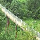 Пешеходный мост через Полоту отремонтировали