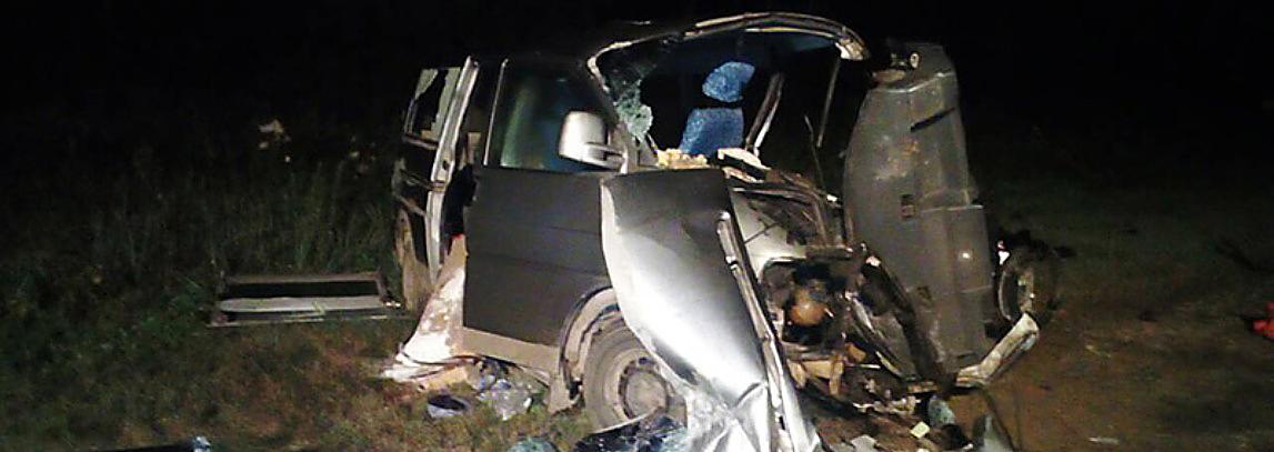 Ночью в Новополоцке произошло лобовое столкновение. Три человека погибли